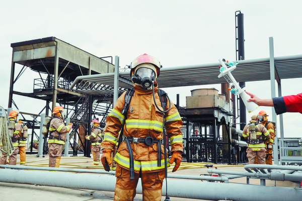 In Disaster Playground, firefighters train for an asteroid impact.